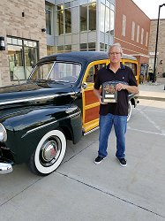 Award Winner Dean Archer with his 1946 Super Deluxe Ford Station Wagon